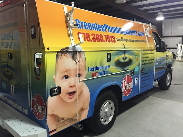 Atlanta area water heater service vehicle